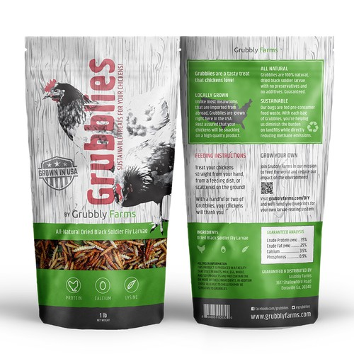 Sustainable packaging with the title 'Awesome packaging for chicken food'