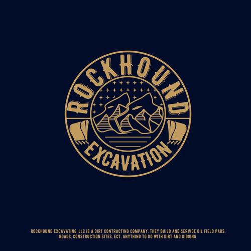 Hound design with the title 'rockhound excavation'