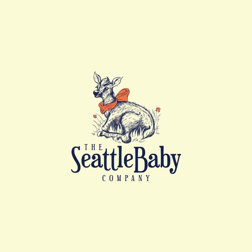 Rustic logo with the title 'Baby Elk design for Baby Accessories Company'
