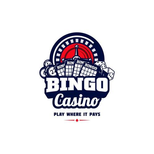 Gambling logo with the title 'Bingo Casino logo'
