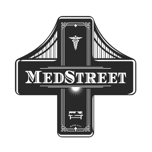 Art Nouveau logo with the title 'Logo for Medical Service'