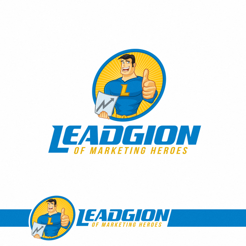 Caricature logo with the title 'Marketing logo design.'