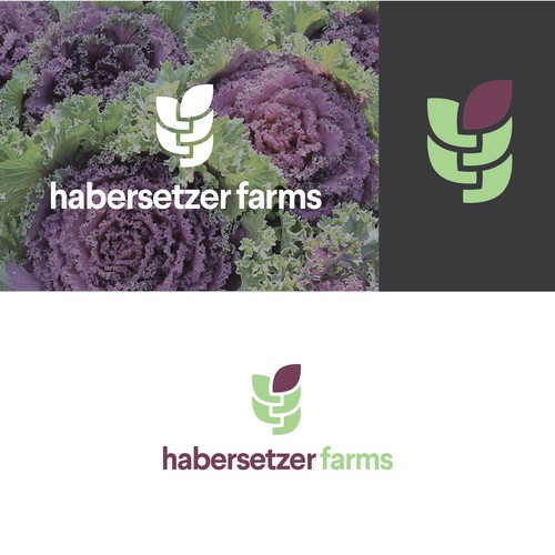 Produce logo with the title 'Modern & memorable logo for a vertical farm'