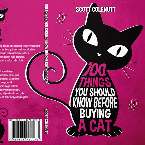 Silhouette book cover with the title '100 Things You Should Know Before Buying a Cat'