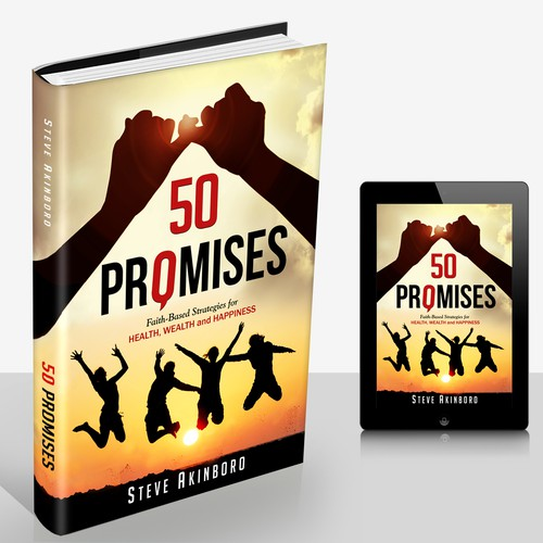 Conceptual book cover with the title 'Self Help book concept for 50 promises'