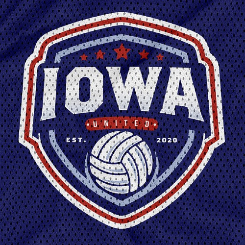 Volleyball design with the title 'Iowa United volleyball club'