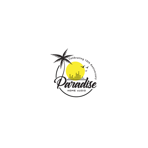 Paradise logo with the title 'Paradise Home Audio'