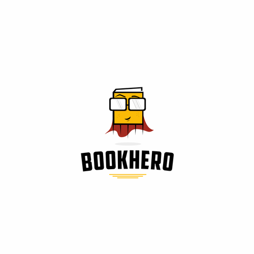 Library logo with the title 'Logo design for international book sharing platform'