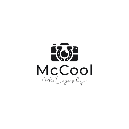 Horseshoe logo with the title 'McCool Photography'