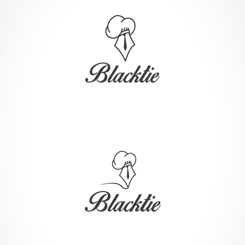 Cooking logo with the title 'Create a logo for an invite-only restaurant review blog Blacktie'