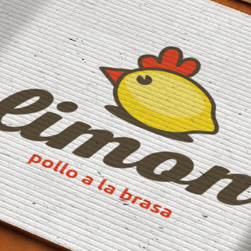 Lemon logo with the title 'Simple logo concept for chicken restaurant'
