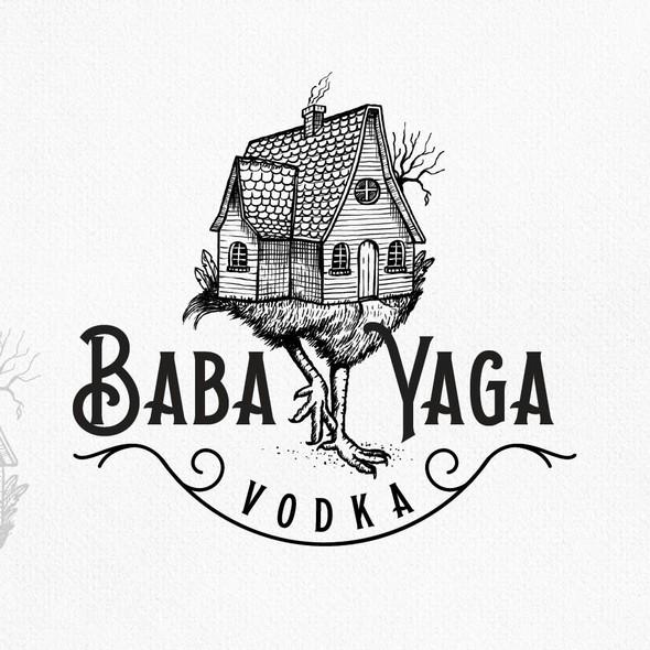 Vodka logo with the title 'bada yaga'