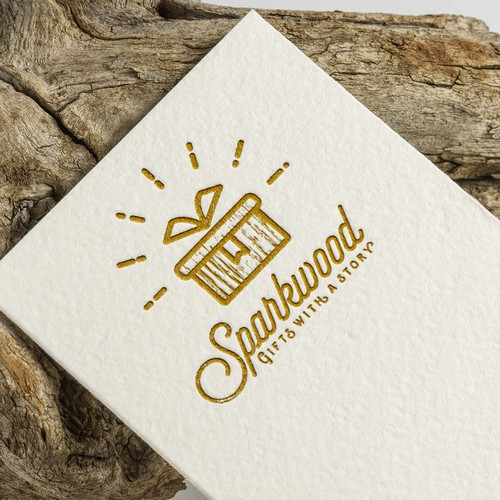 Gift box design with the title 'Sparkwood'
