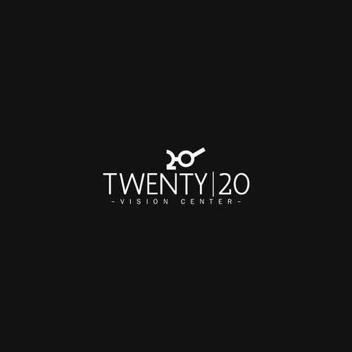 Eye care logo with the title 'Twenty/20'