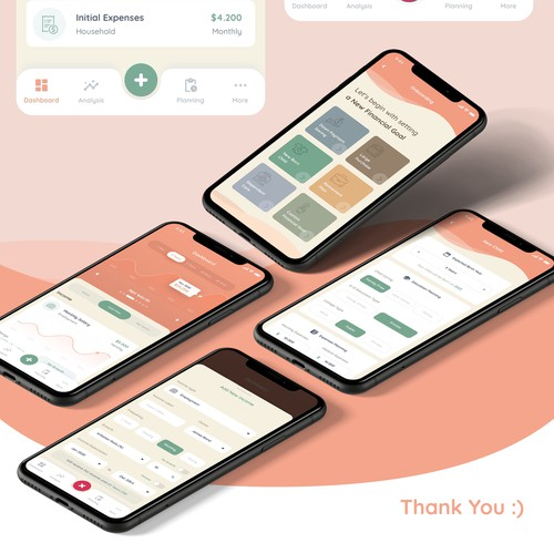 Calming design with the title 'iOs App Design for Wimzee'