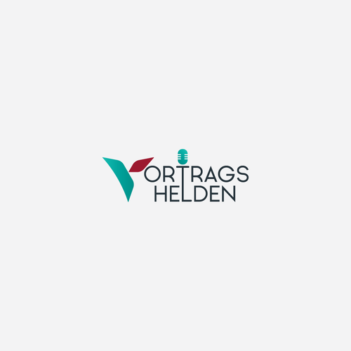 Executive design with the title 'Winning entry for Vortragshelden's logo design'
