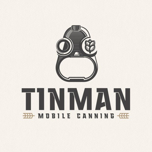 Can design with the title 'tinman mobile canning'
