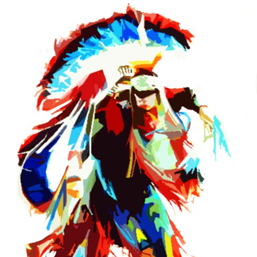 Native American illustration with the title 'Tee Design'