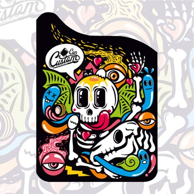 Bold Skeleton Charater Illustration for Jerry Cans