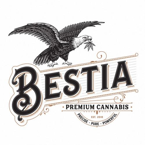 Arts logo with the title 'Bestia Premium Cannabis'