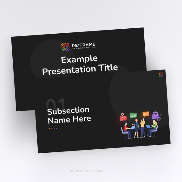 Attractive design with the title 'Luxury & Modern PowerPoint Template'