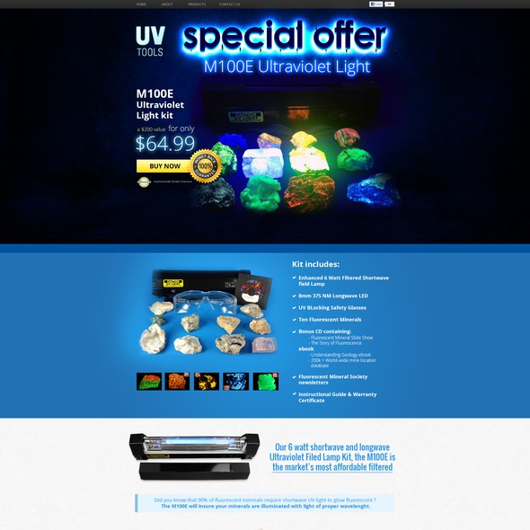 Rock design with the title 'www.ultraviolet-tools.com Ultraviolet Tools LLC needs a new landing page'