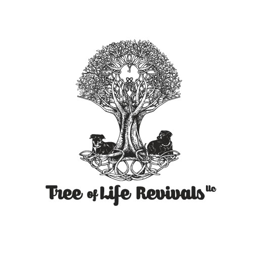 Celtic knot design with the title 'Tree of Life Revivals'