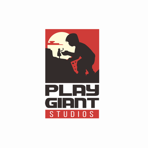 Red and black design with the title 'Cinematic Logo of a gaming studios'