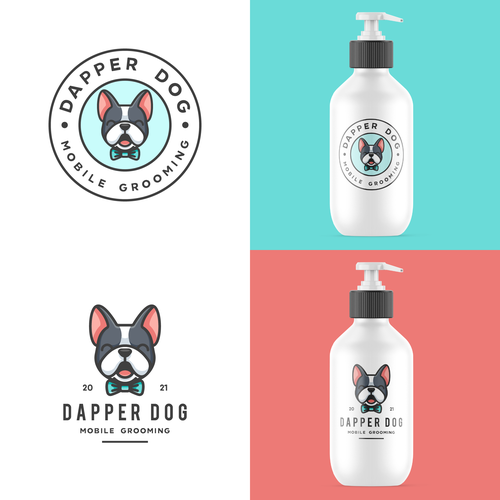 French bulldog design with the title 'Cute French Bulldog For Dapper Dog '