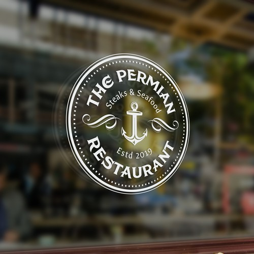 Marine logo with the title 'Logo for seafood restaurant'