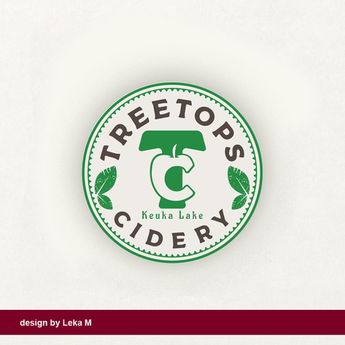 Illustrator design with the title 'Treetops Cidery'