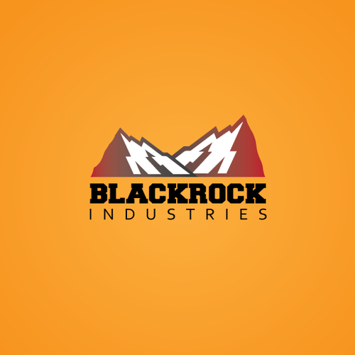 Tough logo with the title 'Blackrock's Bad Ass Logo Design Competition'