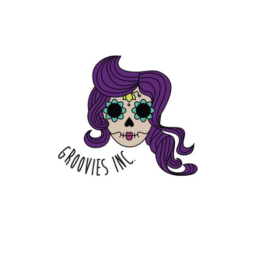 Dia de los Muertos logo with the title 'FUNKY TRENDY YOUTH Jewelry Logo'