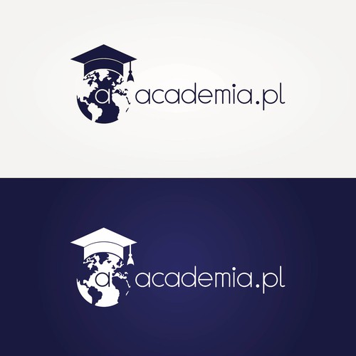 Graduation logo with the title 'academia.pl'
