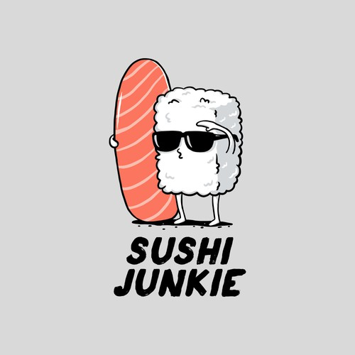 Sushi design with the title 'Surfer Sushi'