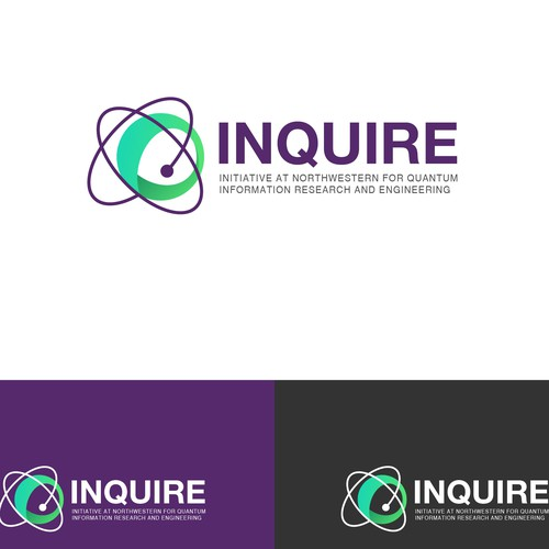 Sphere logo with the title 'Logo concept for INQUIRE'