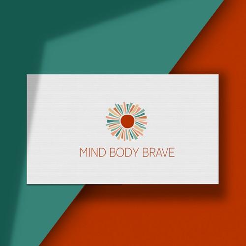 Life coaching design with the title 'MINDBODYBRAVE'