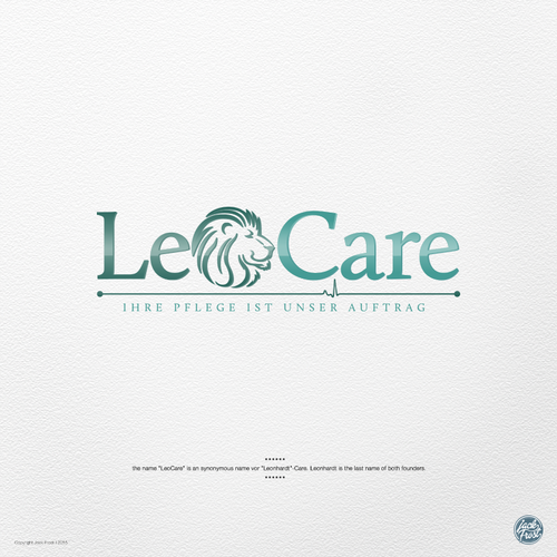 Nursing logo with the title 'LeoCare'