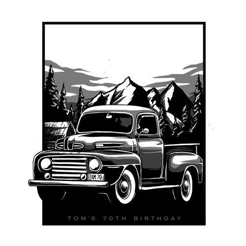Vintage car design with the title '1950 ford truck'