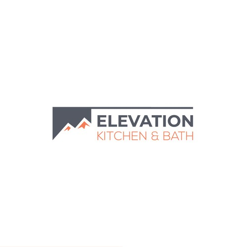 Toilet logo with the title 'Elevation Kitchen & Bath '