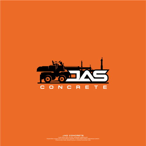 Vehicle graphic design with the title 'Logo for Construction '