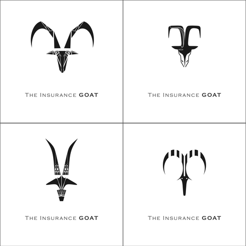 Symmetry design with the title 'goat logo 4'
