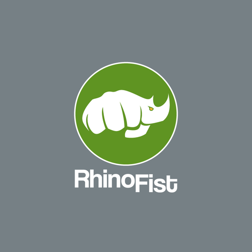 Rhino logo with the title 'Powerful logo for RhinoFist'