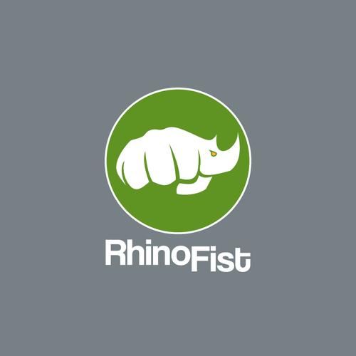 Rhino logo with the title 'Powerful logo for RhinoFist'