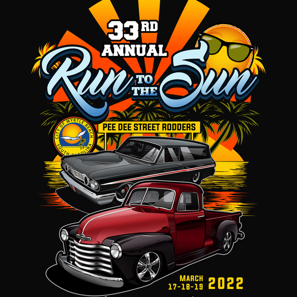 Car t-shirt with the title 'Photorealistic cars for a classic carshow shirt'