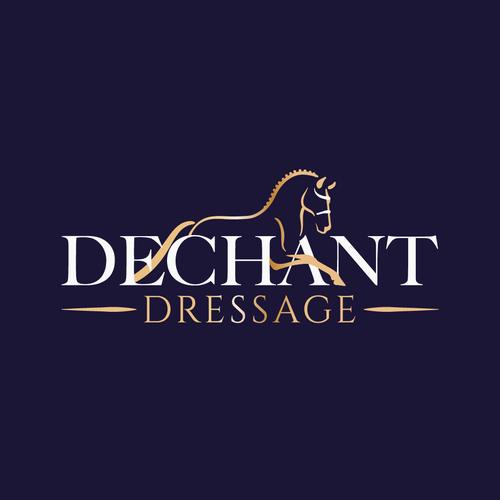 Dressage logo with the title 'Winning Design for Dechant Dressage'