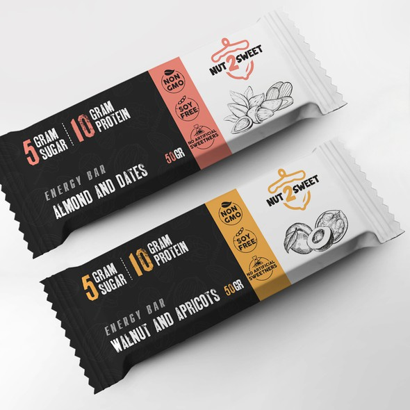 Walnut design with the title 'package and Logo design'