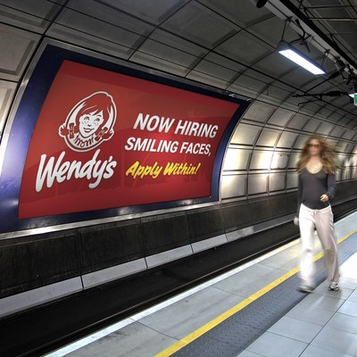 Wendy's Now Hiring Banner