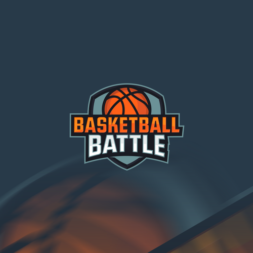 Text logo with the title 'Sports Game for Basketball Battle'