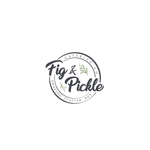 Pickle design with the title 'Fig & Pickle logo contest'